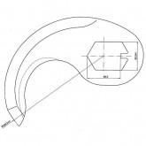Cuchilla cutter Fatosa 125 R-232 3,5mm