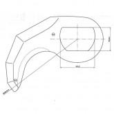 Cuchilla cutter T-Vall 150 R-234 5mm