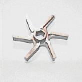 Cuchilla WK-140 6 brazos doble corte serrated